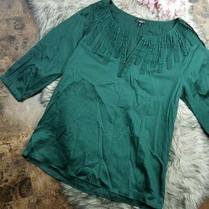 Talbots Woman's Top size M Emerald Green